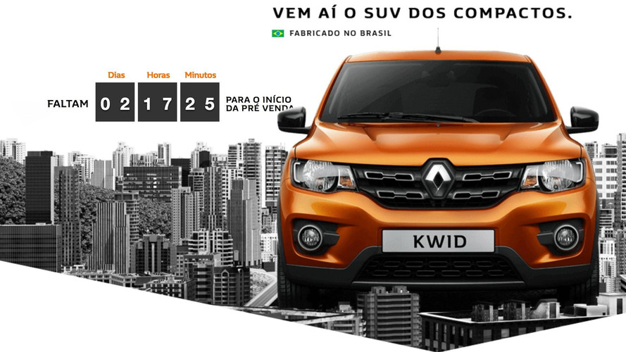 Renault Kwid será vendido com preços a partir de R$ 29.990