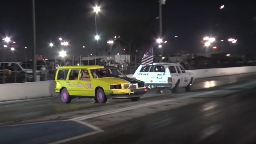 Demolition Derby Drag Racing Is A Thing, And It's Awesome