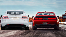 Dodge-challenger-srt-demon-Tesla-model-S