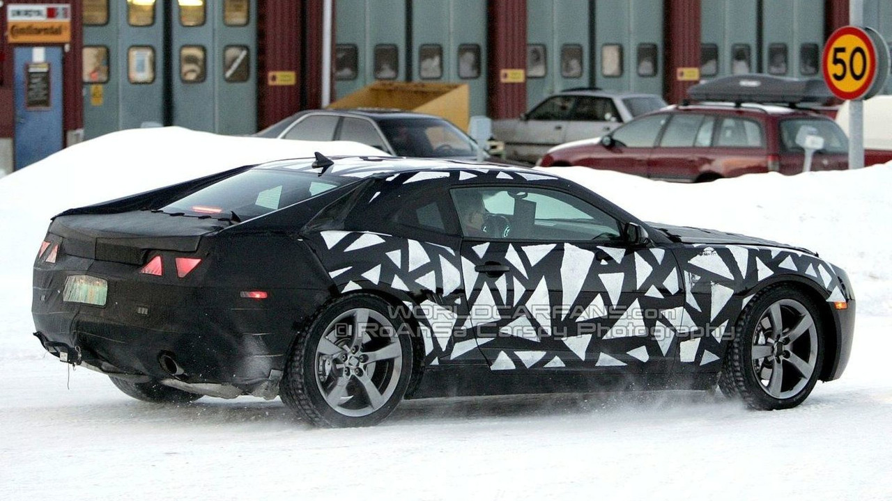 2009 Camaro on snow in Scandinavia