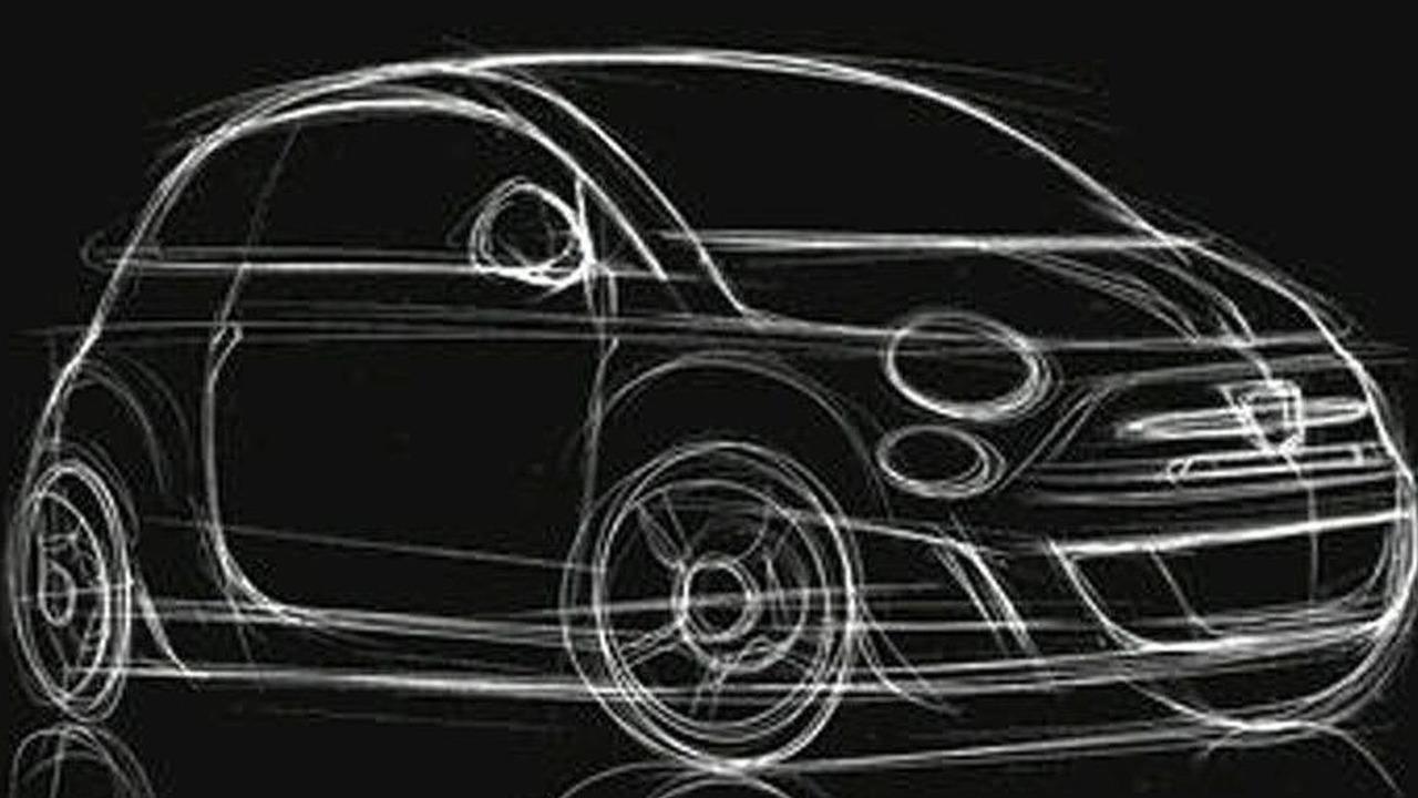 Fiat 500 Abarth Sketch 2