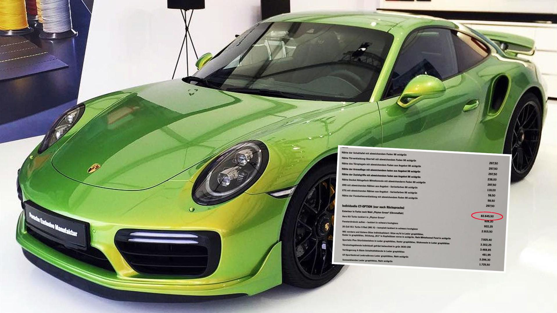 Car Paint Job Cost >> Porsche 911 Turbo S' Custom Factory Paint Job Costs Almost ...