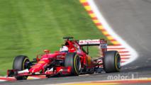 Sebastian Vettel, Ferrari SF15-T sends sparks flying