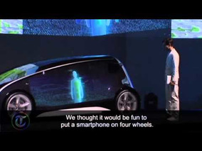 Toyota unveil smartphone car for Tokyo Motor Show
