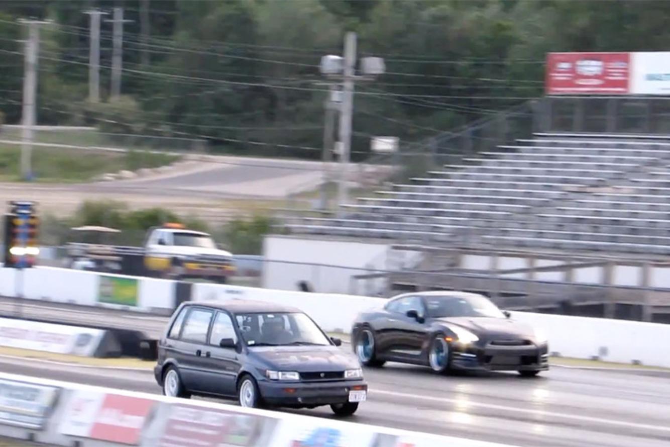 Watch This 450HP Minivan Embarrass a Nissan GT-R and Viper