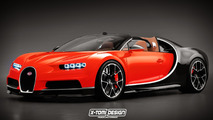 Bugatti Chiron roadster speculative renders