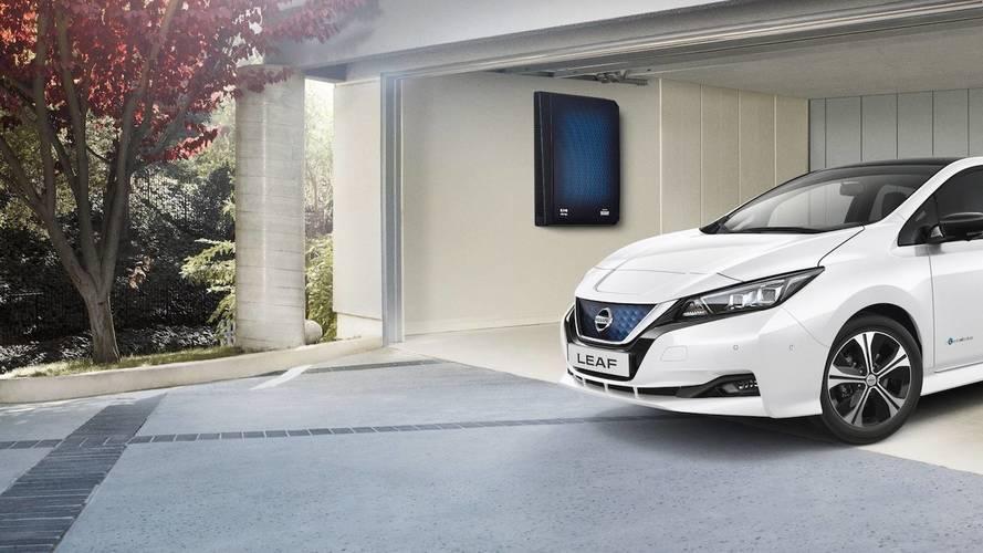 Nissan, le batterie delle elettriche come powerbank a casa