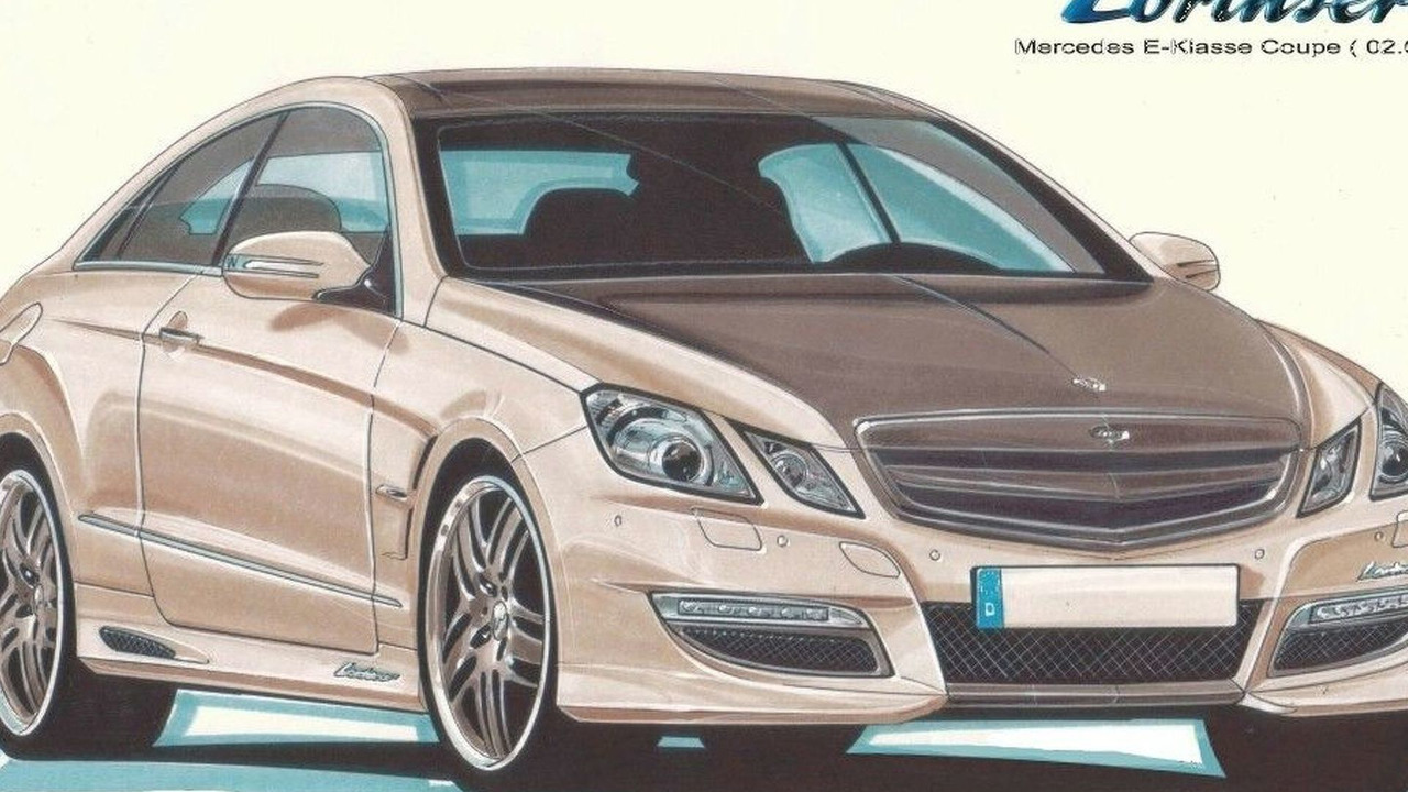Lorinser E-Class Coupe tuning program design sketch