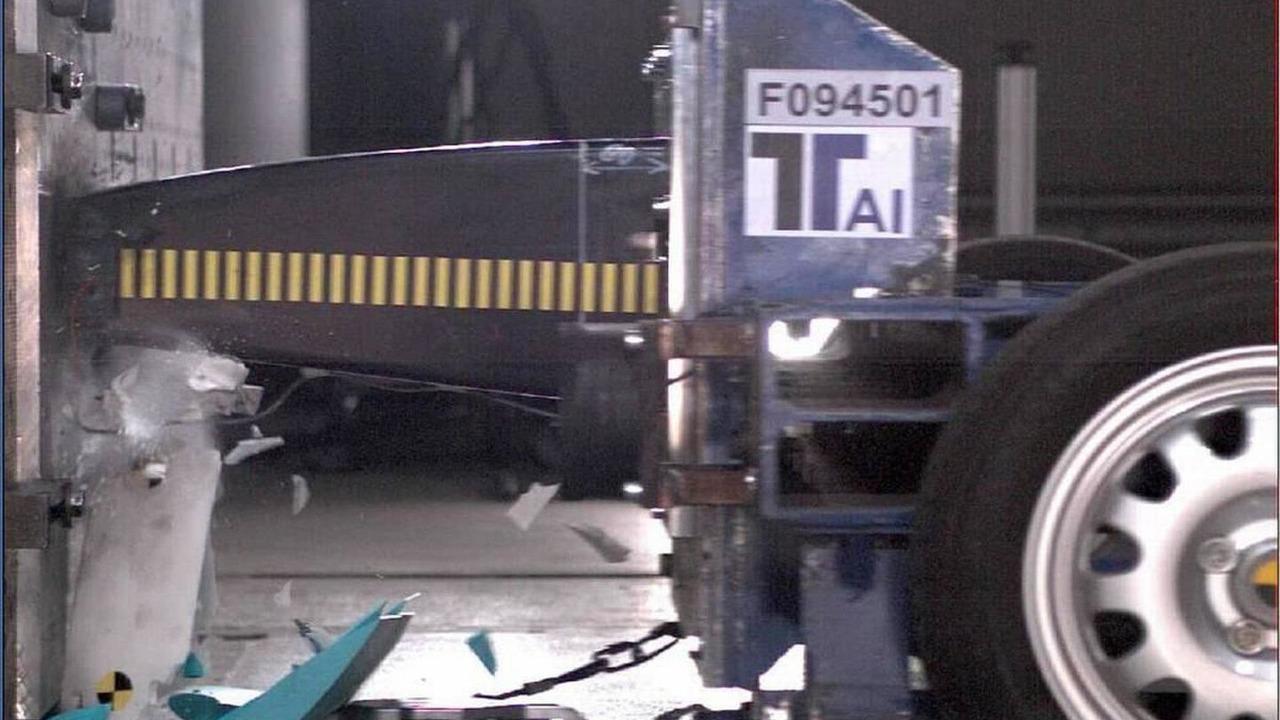 The nose box crash test - Lotus F1 Racing, Hingham, 12.2009 Norfolk, England
