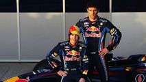 Mark Webber (AUS) Sebastian Vettel (GER) unveil RB6 during winter testing at Circuito De Jerez, 10.02.2010, Jerez de la Frontera, Spain