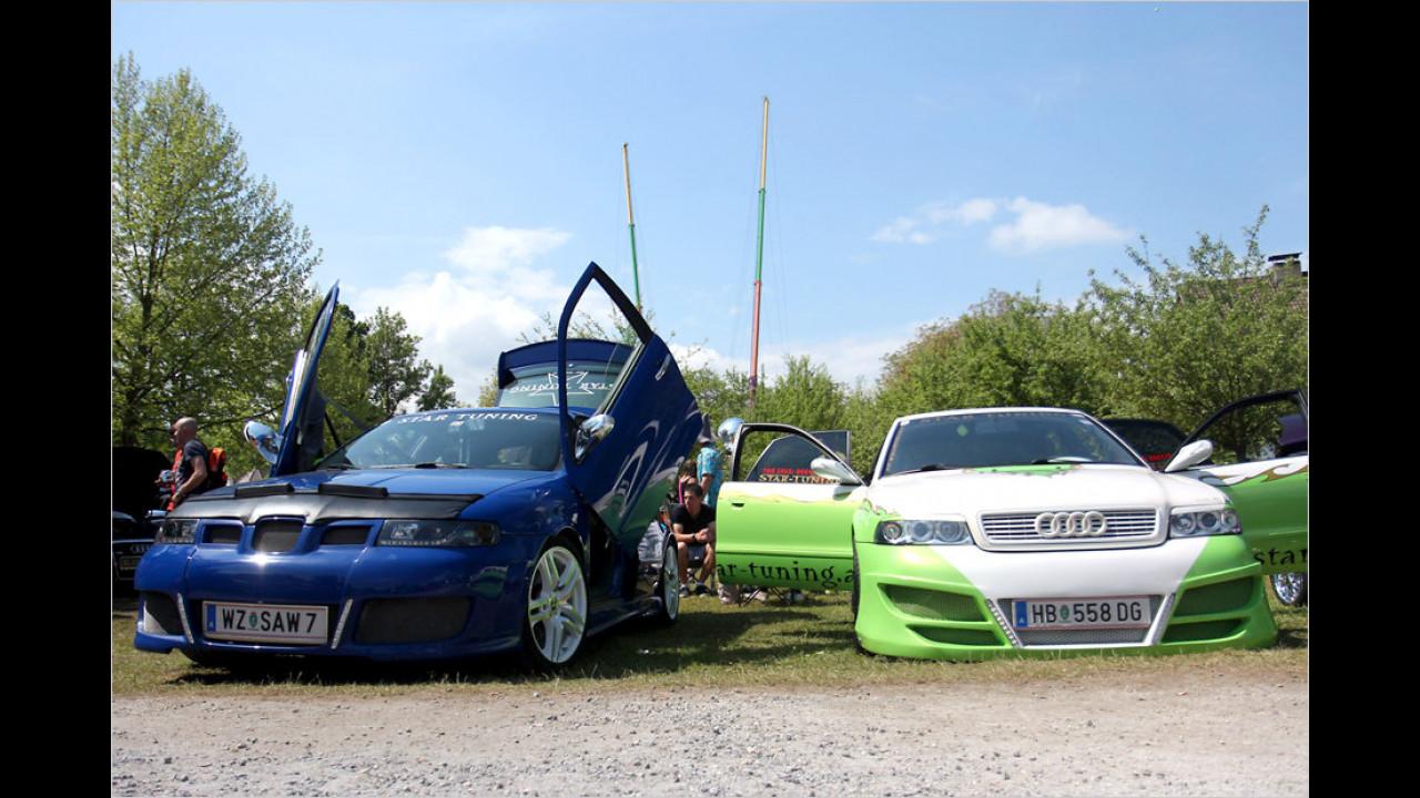 Selbstverständlich dürfen auch nachgeschärfte Seats und Audis nicht fehlen, wenn zum GTI-Treffen am Wörthersee gerufen wird.