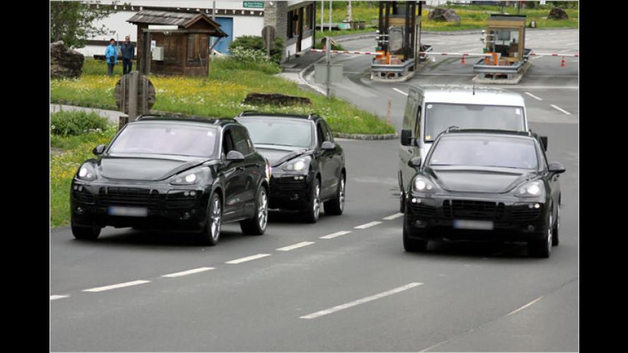 Neuer Porsche Cayenne als Erlkönig erwischt