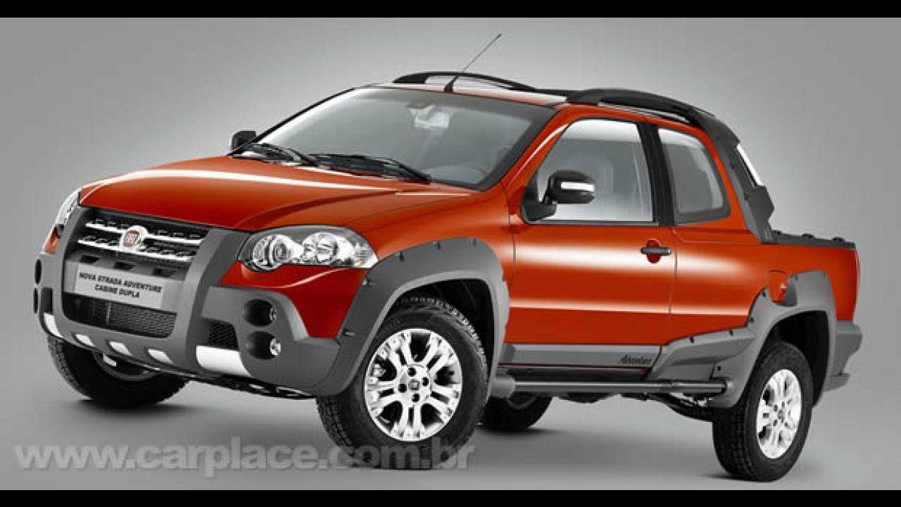 Nova Fiat Strada Adventure Cabine Dupla 2010: Vaza imagem do interior da nova versão