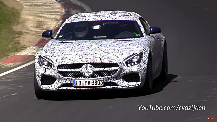 2017 Mercedes-AMG GT C Roadster filmed testing on the Nürburgring