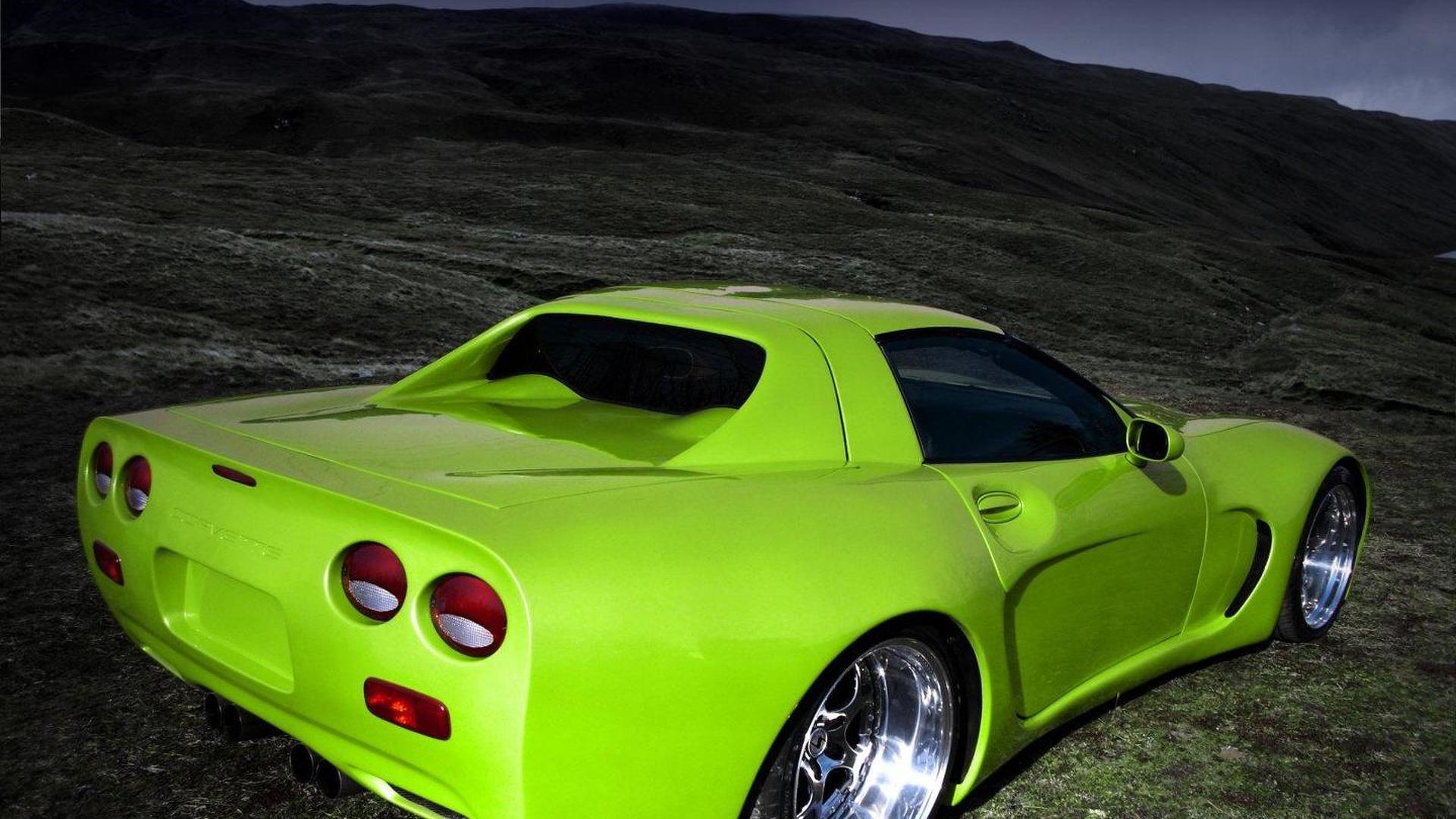 Corvette C5 gets scissor doors and old school vertical rear window