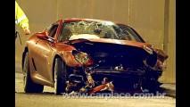 Cristiano Ronaldo sofre acidente que destrói sua Ferrari 599 GTB Fiorano
