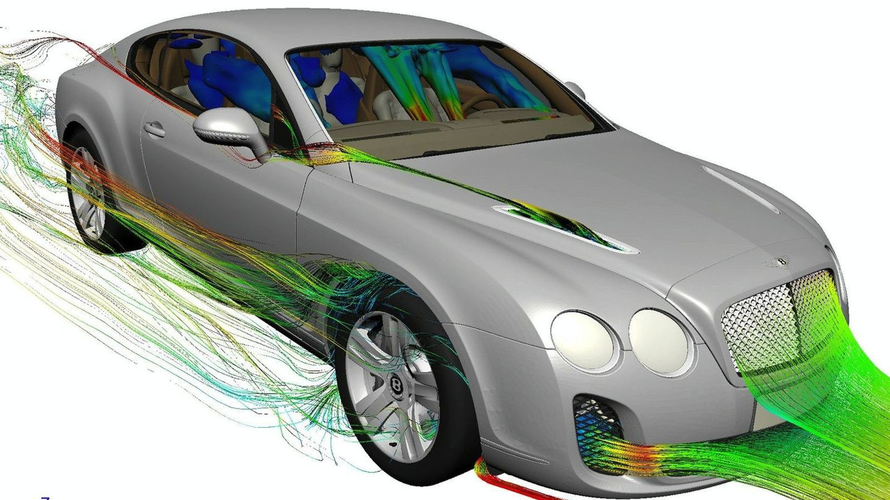 Bentley Continental Supersports on EXA advanced design software