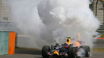 Mark Webber (AUS), Red Bull Racing stops after a engine blow and fire, Chinese Grand Prix, Saturday Practice, 18.10.2008 Shanghai, China