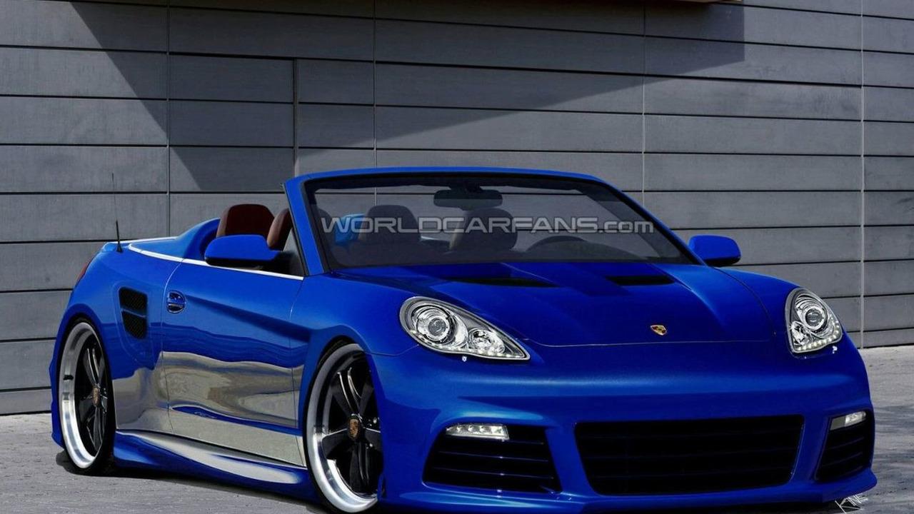 Porsche Panamera Cabriolet artist rendering