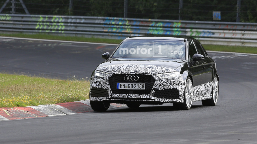 Audi RS3 Sedan hits the Nürburgring, could pack 400 hp