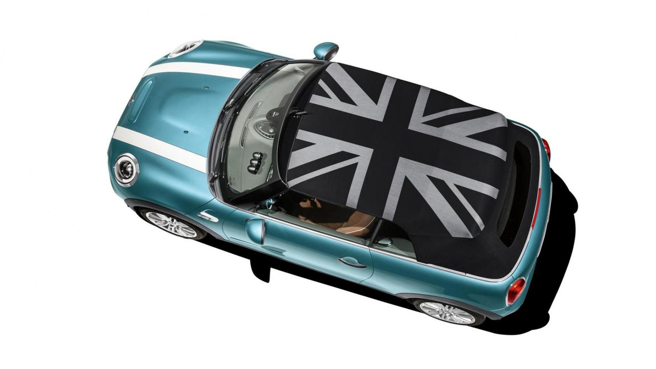 Mini Convertible with Union Jack roof
