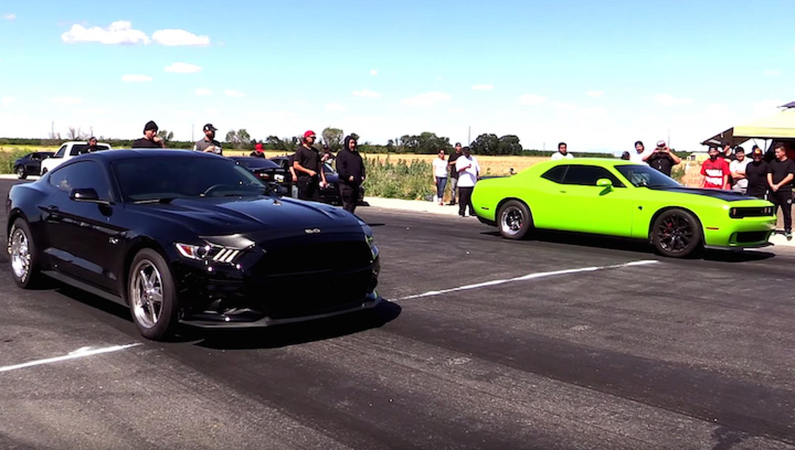 Backyard Bolt-On Brawl: Ford Mustang vs Challenger Hellcat