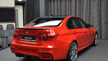 BMW M3 with Competition Package and Ferrari Red paint