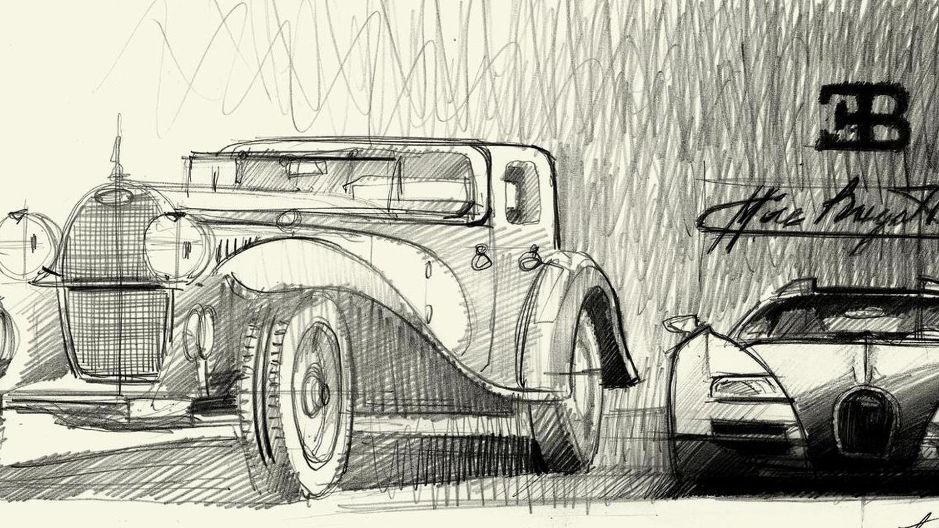 Рисунок Bugatti Veyron Ettore Bugatti Edition и Type 41 Royale
