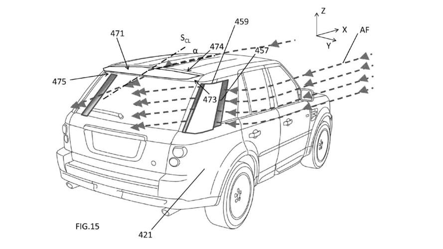 JLR, yeni bir aero sistemi için patent aldı