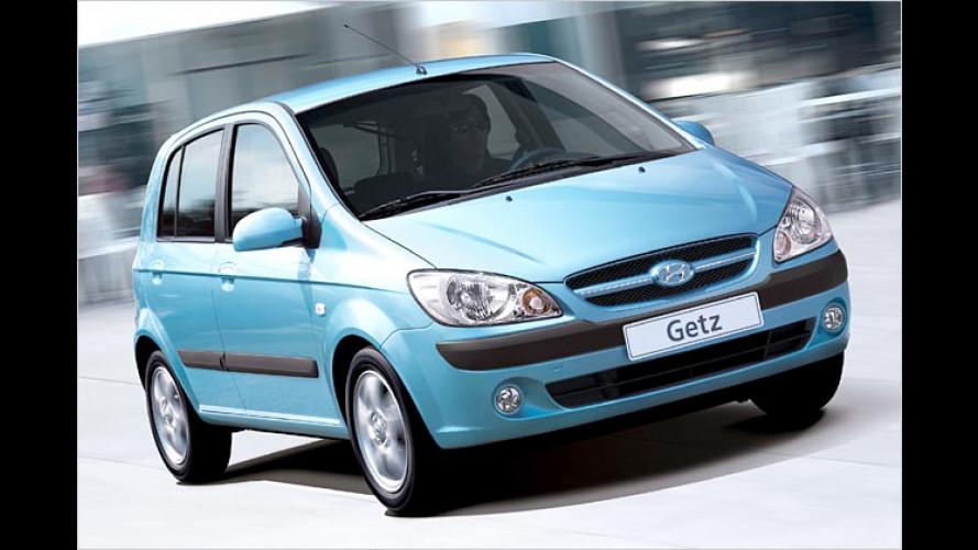 Hyundai Getz: Mandelaugen und mehr PS für 2006