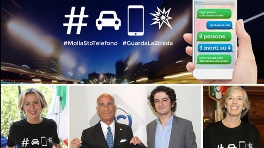 L'ACI con Francesco Mandelli contro lo smartphone alla guida