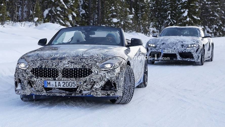 2019 BMW Z4 Spied With The Top Down Accompanied By Supra