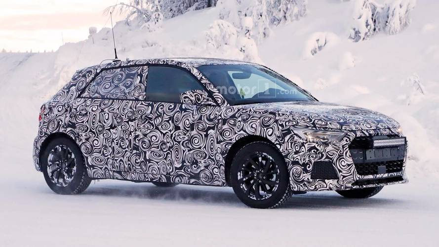 New Audi A1 spotted testing in a winter wonderland