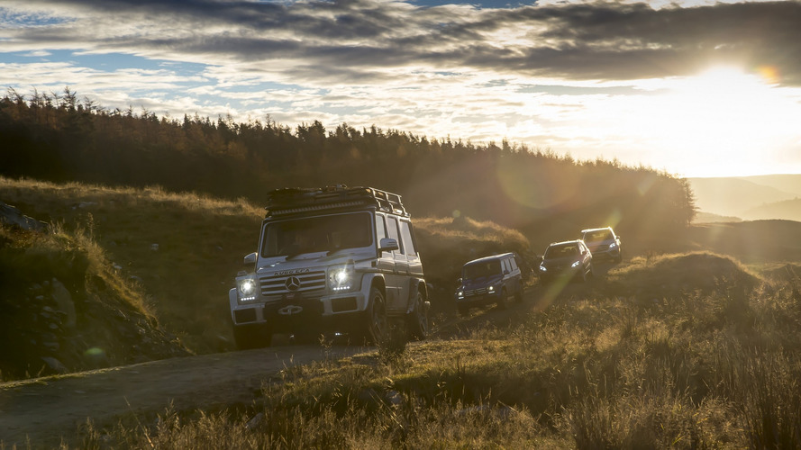 Dozen Mercedes SUVs traversed U.K. without using public roads at all