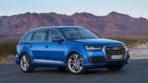 Audi Q7 azul tres cuartos delantero