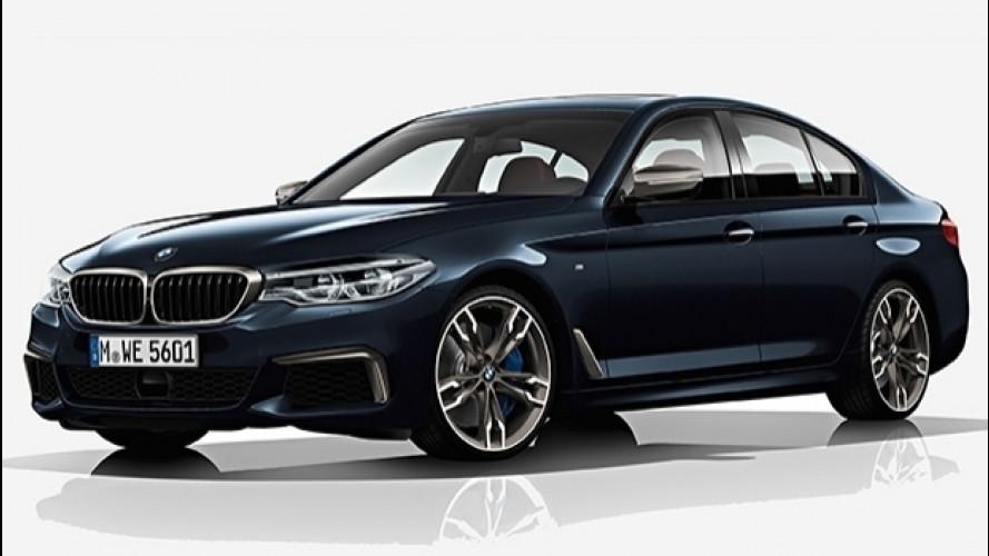 Nuova BMW M550d xDrive, quattro turbo per la Diesel da 400 CV