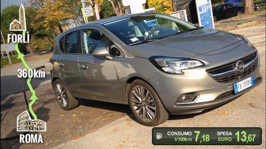 Opel Corsa GPL Tech, la prova dei consumi reali