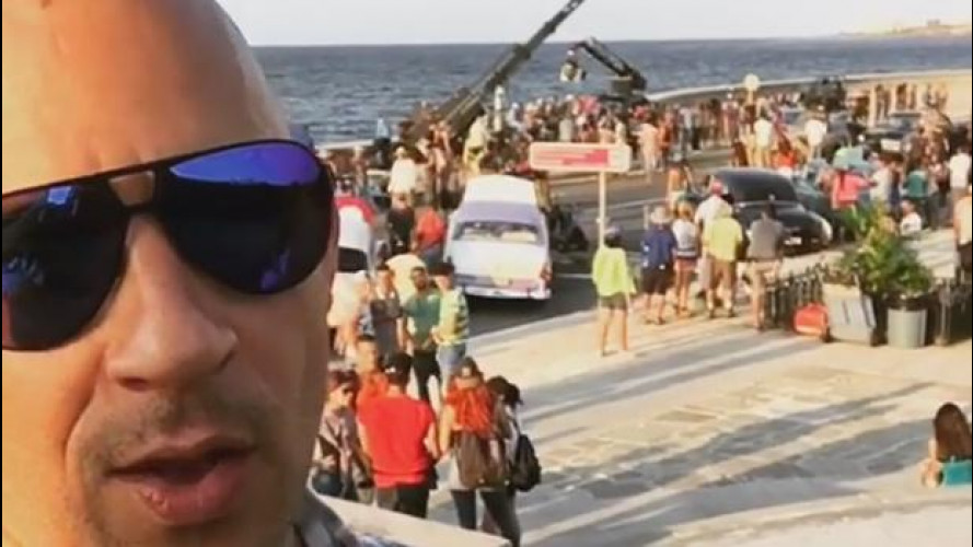Fast and Furious 8, Vin Diesel sul set a Cuba [VIDEO]