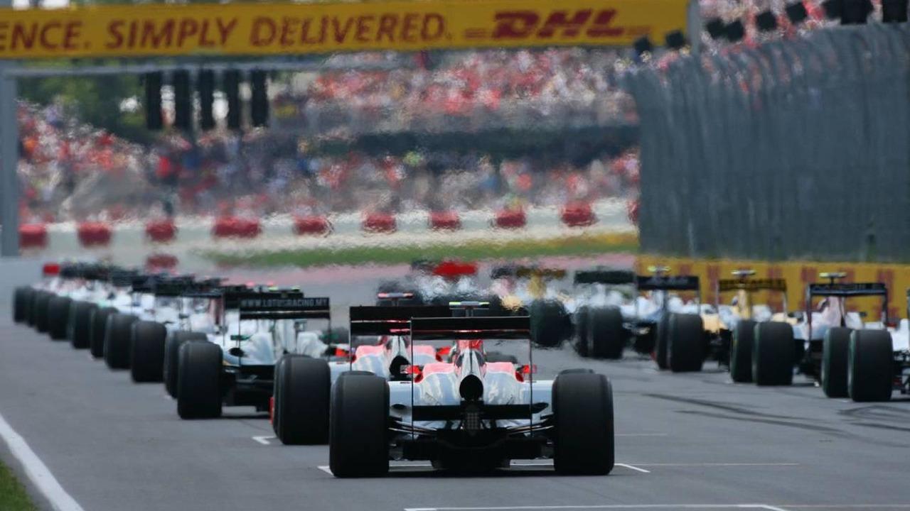 Lucas di Grassi (BRA), Virgin Racing at the start of the race, Canadian Grand Prix, Sunday Race, 13.06.2010 Montreal, Canada