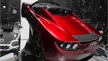 Tesla Roadster dans l'espace