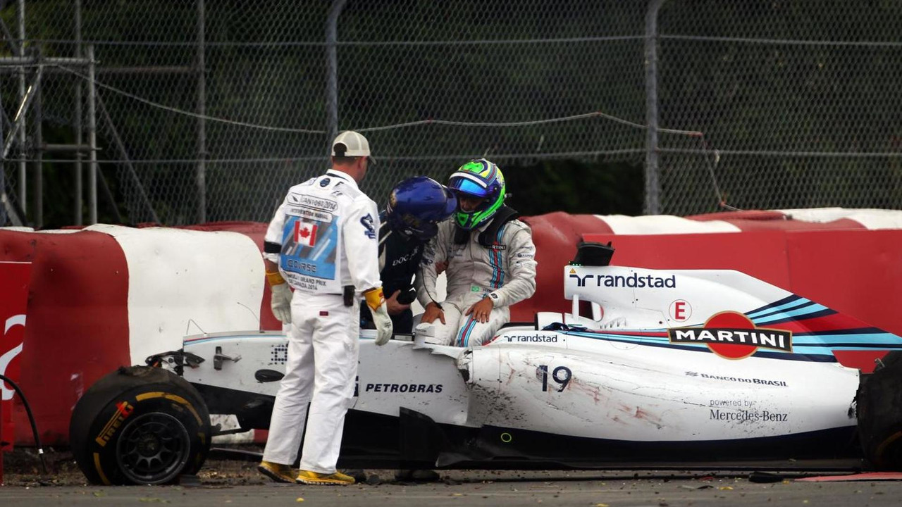 Felipe Massa (BRA) Williams FW36 crashed out on the final lap of the race, 08.06.2014, Canadian Grand Prix, Montreal / XPB