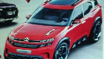 Citroen Aircross leaked image / worldscoop.forumpro.fr