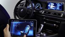 BMW TouchCommand rear seat control system