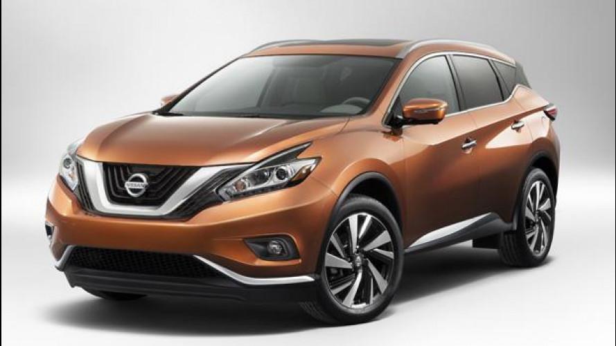 Nuovo Nissan Murano, il super aerodinamico