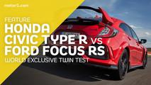 Honda Civic Type R vs Ford Focus RS duel