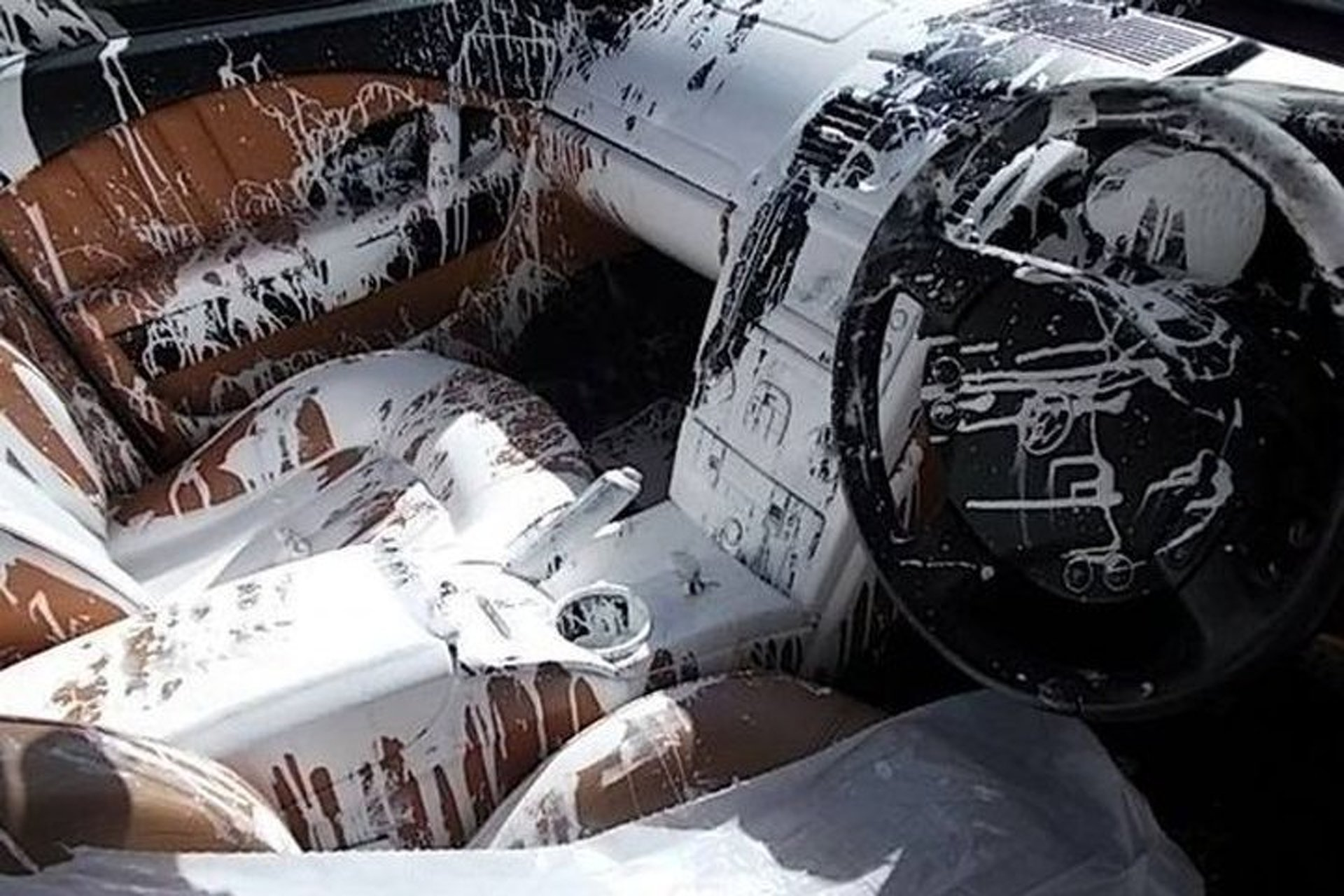 Bad Dog or Bad Driver? How this Maserati Interior Got Doused in Paint