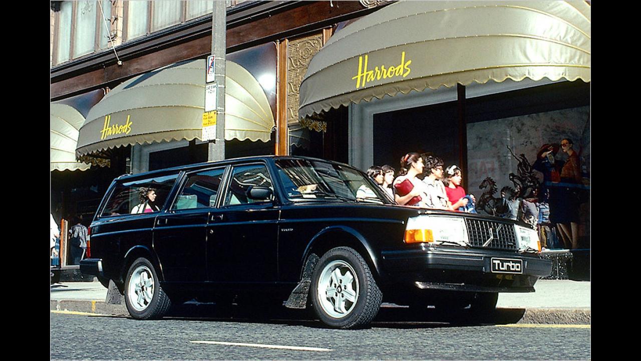 Volvo 245: Später mit eckigen Augen und Turbo