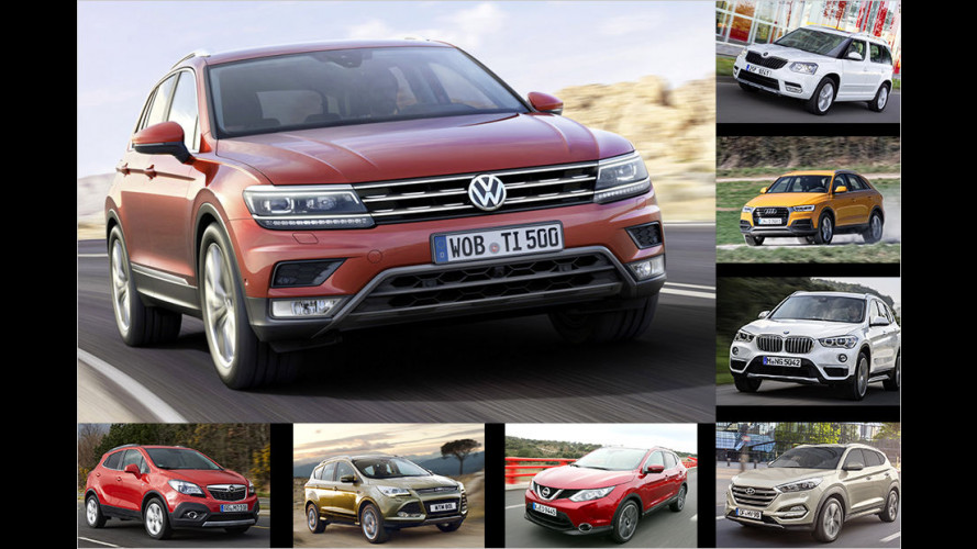 Der neue VW Tiguan und seine Rivalen