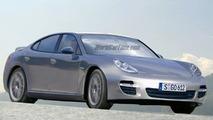 Porsche Panamera Spy Illustration