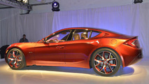 Fisker Atlantic design prototype live in New York 04.04.2012